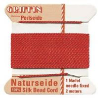 2M   Griffin Silk Cord 0.6mm Red size 04